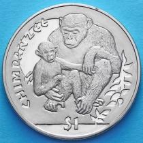 Сьерра-Леоне 1 доллар 2010 год. Шимпанзе