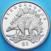 Сьерра-Леоне 1 доллар 2006 год. Стегозавр