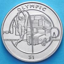Сьерра-Леоне 1 доллар 2012 год. Олимпиада, прыжки