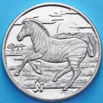Сьерра-Леоне 1 доллар 2007 год. Зебра