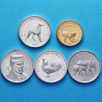 Сомалиленд набор 5 монет 2002-2005 год.