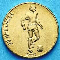Лот 10 монет. Сомали 25 шиллингов 2001 год. Футболист.