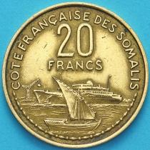 Сомали французское 20 франков 1952 год.