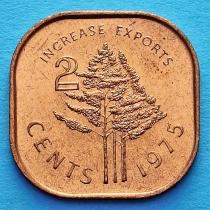 Свазиленд 2 цента 1975 год. ФАО.