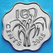 Свазиленд 10 центов 2005 год