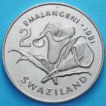 Свазиленд 2 эмалангени 1981 год. Бриллиантовый юбилей короля Собузы II.