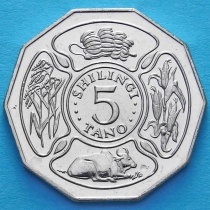 Танзания 5 шиллингов 1993 год.