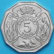 Монета Танзания 5 шиллингов 1971 год. 10 лет Независимости.