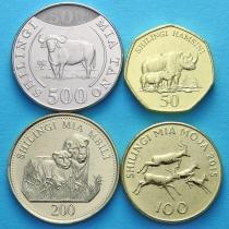 Танзания набор 4 монеты 2012-2015 год.