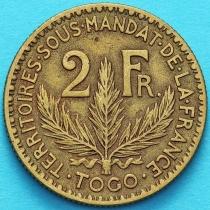 Французское Того 2 франка 1925 год. №4
