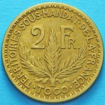 Того Французское 2 франка 1924 год. №1