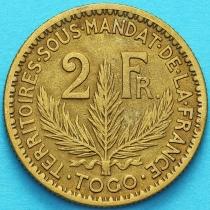 Того Французское 2 франка 1925 год. №5