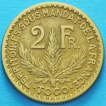 Французское Того 2 франка 1924 год. №2