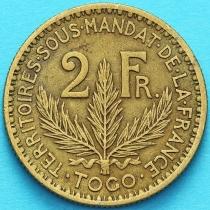 Того Французское 2 франка 1925 год. №6