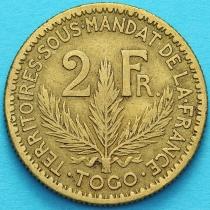 Того Французское 2 франка 1924 год. №4