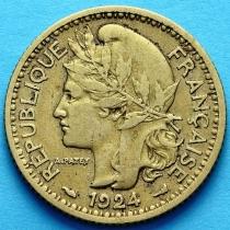 Французское Того 1 франк 1924 г. №2