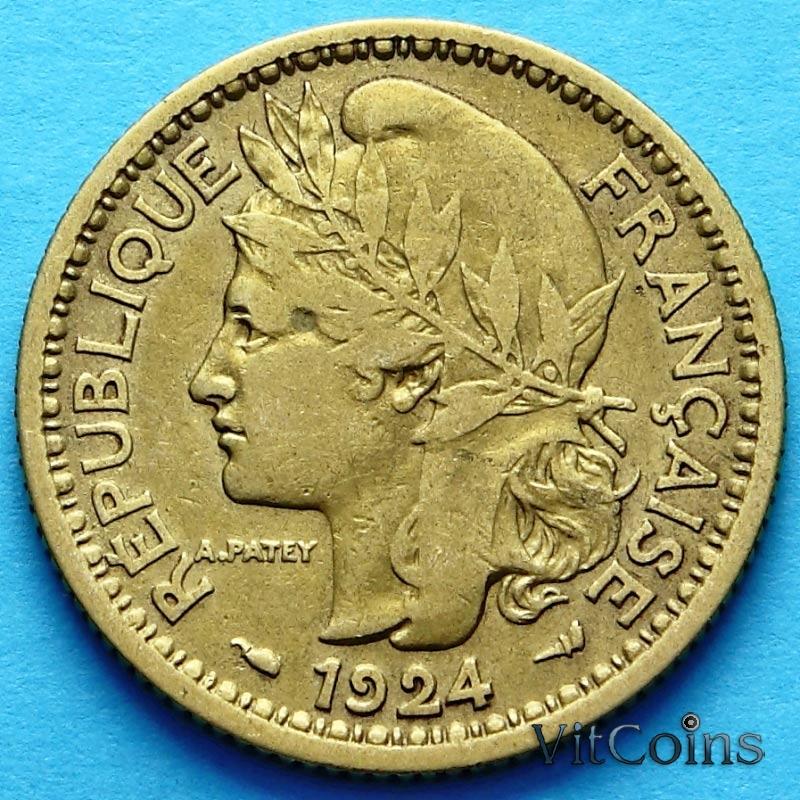 Монета Французского Того 1 франк 1924 г. №3