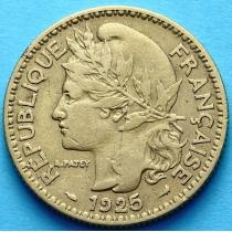 Французское Того 2 франка 1925 год. №3