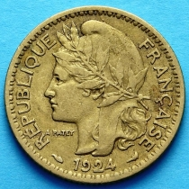 Французское Того 1 франк 1924 год. №4