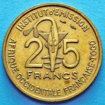Французское Того 25 франков 1957 год. aUNC.