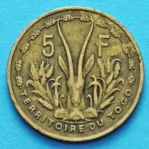 Французское Того 5 франков 1956 год.