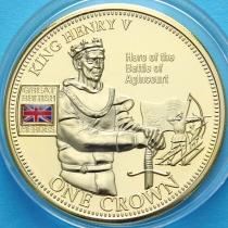 Тристан Да Кунья 1 крона 2010 год. Король Генрих V