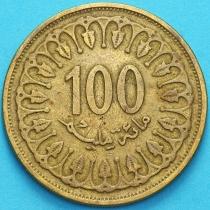 Тунис 100 миллимов 1993 год.