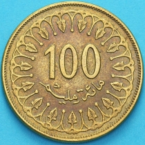 Тунис 100 миллимов 2011 год.