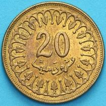 Тунис 20 миллимов 1983 год.
