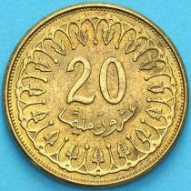 Тунис 20 миллимов 2013 год.