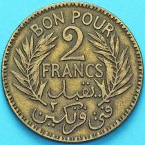 Тунис 2 франка 1924 год.