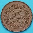 Монета Тунис 5 сантим 1914-1917 год. А