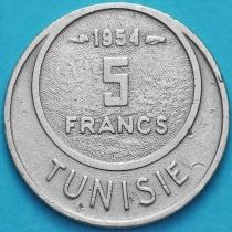 Тунис 5 франков 1954 год.