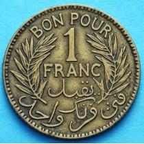 Тунис 1 франк 1921 год.