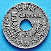 Тунис 5 сантим 1931 год.