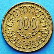 Тунис 100 миллимов 1981-2013 год.