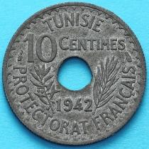 Тунис 10 сантим 1942 год.