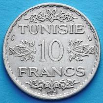 Тунис 10 франков 1934 год. Серебро.