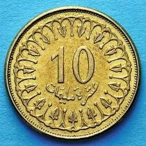 Тунис 10 миллимов 1996-2013 год.
