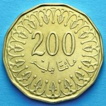 Тунис 200 миллимов 2013 г.