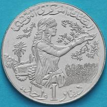 Тунис 1 динар 1988-1990 год.