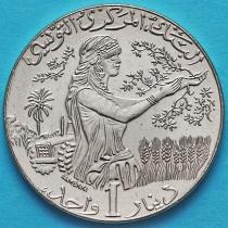 Тунис 1 динар 2013 год.