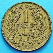 Тунис 1 франк 1941 год.