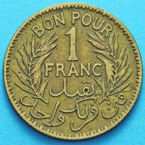 Тунис 1 франк 1945 год.