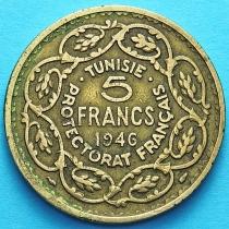 Тунис 5 франков 1946 год.