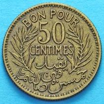 Тунис 50 сантим 1926 год.