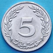 Тунис 5 миллим 1960, 1983 год.