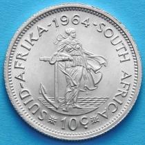 ЮАР 10 центов 1964 год. Серебро.