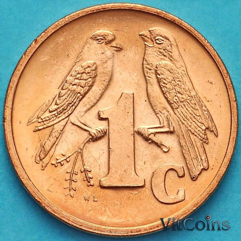 Монета ЮАР 1 цент 2001 год.
