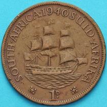 """Южная Африка 1 пенни 1940 год. Корабль """"Дромедарис""""."""